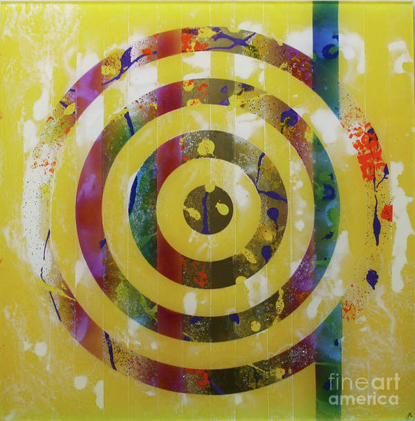 Party Poster featuring the painting Party- Bullseye 2 by Mordecai Colodner