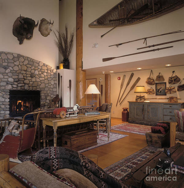 Accommodations Poster featuring the photograph Rustic Lodge by Robert Pisano
