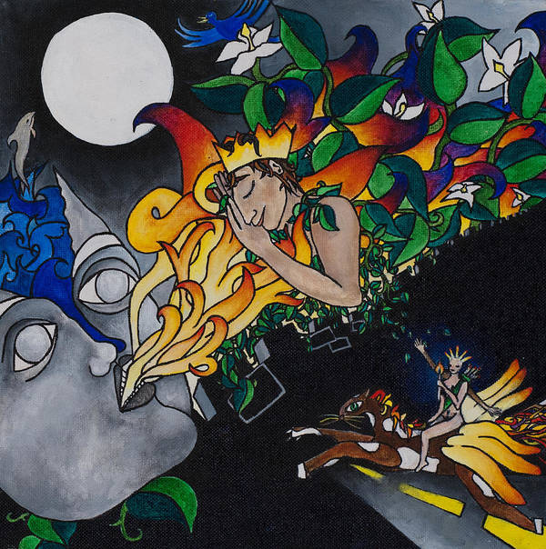 Horse Poster featuring the painting Sleeping Beauty by Eliza Furmansky