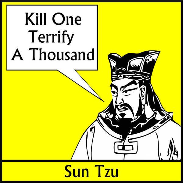 Sun Tzu Poster featuring the digital art Sun Tzu by War Is Hell Store