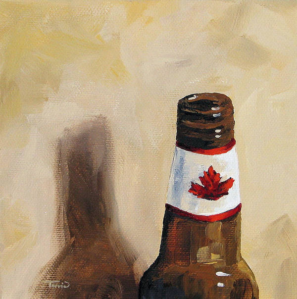 Beer Poster featuring the painting Canadian Beer by Torrie Smiley