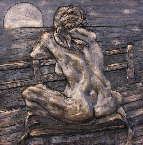 Female Nude Poster featuring the sculpture Dock Of The Bay by Dan Earle