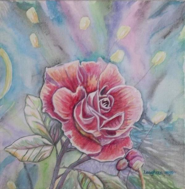 Rose Poster featuring the painting Rose by Laura Laughren