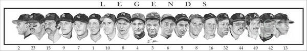 New York Yankees Poster featuring the painting Yankees by Tamir Barkan
