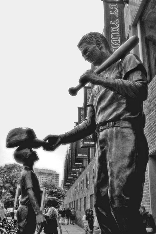 Ted Williams And The Boy Poster featuring the photograph Idol by Joann Vitali