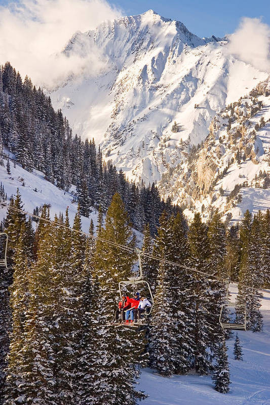 Alta Ski Resort Poster featuring the photograph Alta Ski Resort Wasatch Mts Utah by Utah Images