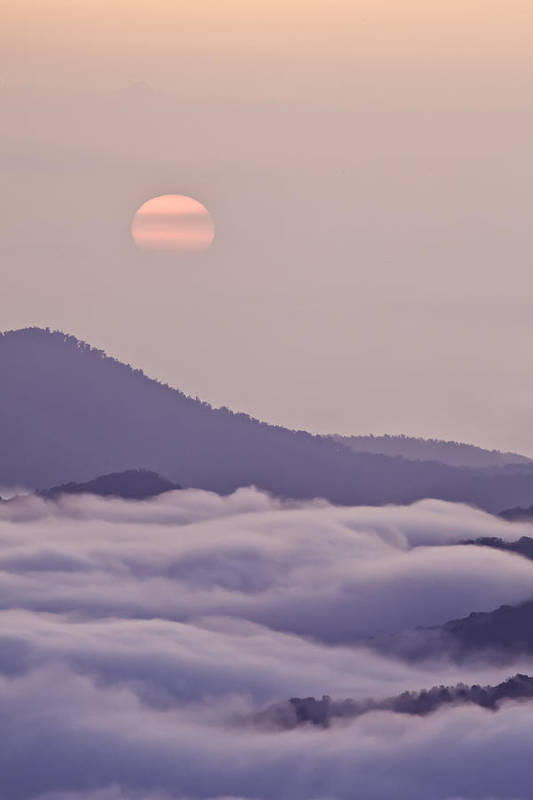 Blue Ridge Parkway Poster featuring the photograph Oriental Blue Ridge Sunrise by Rob Travis