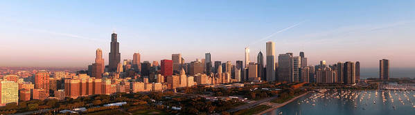 Chicago Poster featuring the photograph Chicago Panoramic by Jeff Lewis