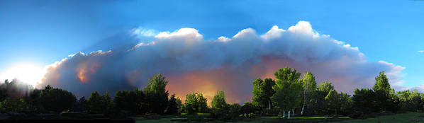 Colorado Poster featuring the photograph Wildfire Coming by Ric Soulen