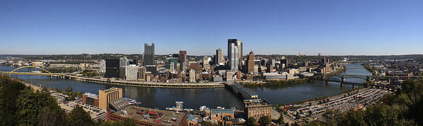 Pittsburg Poster featuring the photograph Pittsburgh Panoramic by Teresa Mucha