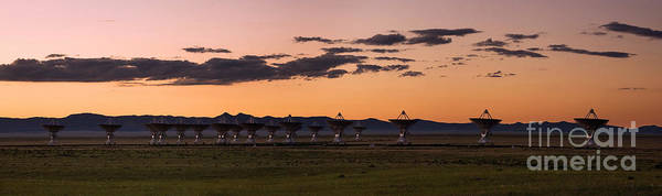 Satellite Dish Poster featuring the photograph Very Large Array Panorama by Matt Tilghman