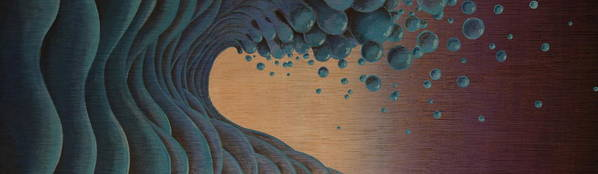 Wave Poster featuring the painting Waves Crashing by Tim Foley