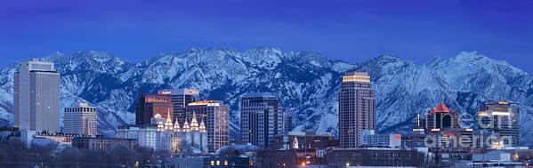 America Poster featuring the photograph Salt Lake City Skyline by Brian Jannsen