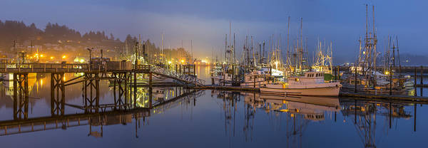Sky Poster featuring the photograph Early Morning Harbor by Jon Glaser