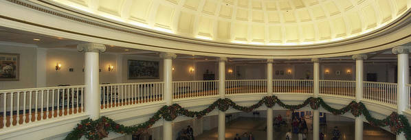Panorama Poster featuring the photograph Hall Of Presidents Walt Disney World Panorama by Thomas Woolworth