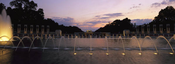 North America Poster featuring the photograph A Night View Of Memorial Plaza by Richard Nowitz