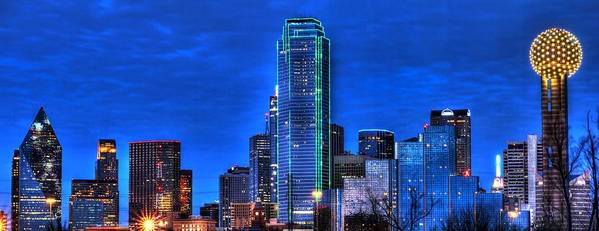 Dallas Poster featuring the photograph Dallas Skyline Hd by Jonathan Davison