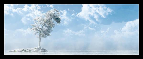 Landscape Poster featuring the digital art White Tree... by Tim Fillingim