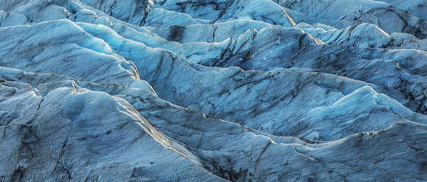 Black Poster featuring the photograph Glacier Blue by Jon Glaser