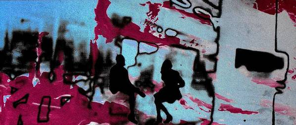 Silhouette Poster featuring the photograph Graffiti - Urban Art Serigrafia by Arte Venezia