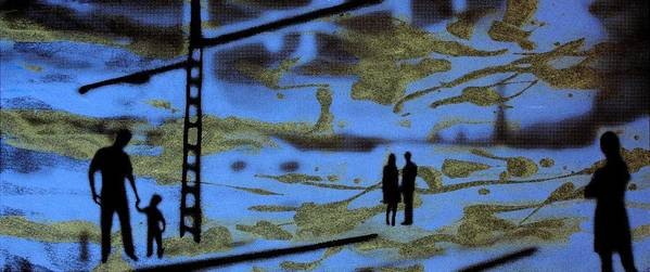 Silhouette Poster featuring the photograph Lost In Translation - Serigrafia Arte Urbano by Arte Venezia