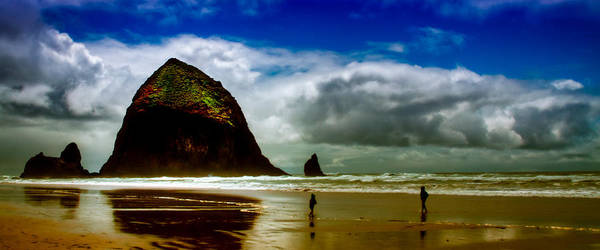 Cannon Beach Poster featuring the photograph Cannon Beach At Dusk IIi by David Patterson