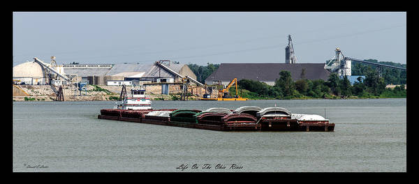 David Lester Poster featuring the photograph Life On The Ohio River 2 by David Lester