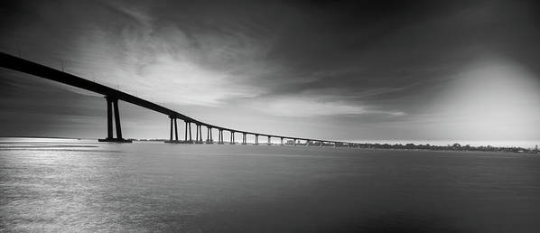 Bridge Poster featuring the photograph Way Over The Bay by Ryan Weddle
