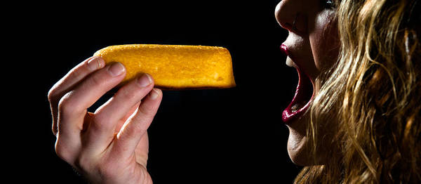Twinkie Poster featuring the photograph Twinkie Bite by Scott Sawyer