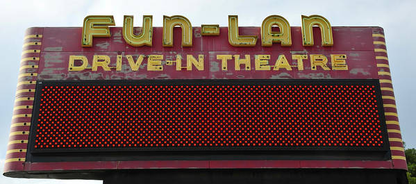 Drive In Theatre Poster featuring the photograph Drive Inn Theatre by David Lee Thompson