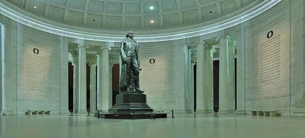 Metro Poster featuring the photograph Inside The Jefferson Memorial by Metro DC Photography
