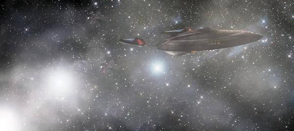 Star Trek Poster featuring the photograph Star Trek - Approaching The Neutral Zone by Jason Politte