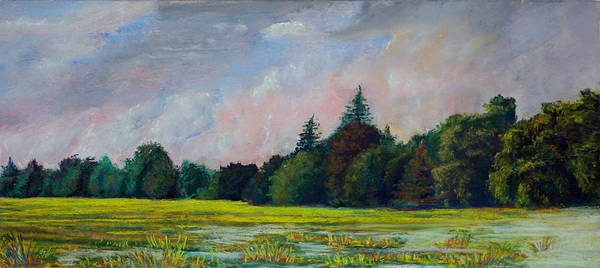 Pastel Poster featuring the pastel Fields Mid-storm by Bob Northway
