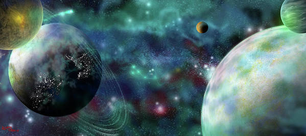 Planets Poster featuring the digital art Going Further by Adam Vance