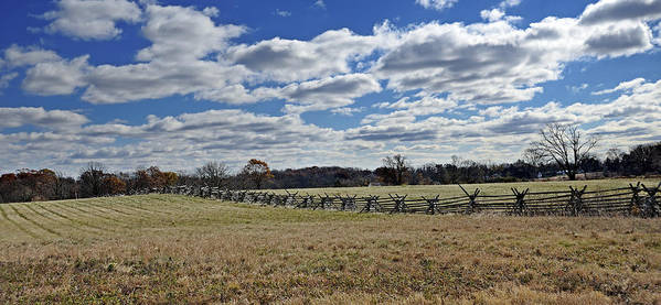 Gettysburg Poster featuring the photograph Gettysburg Battlefield - Pennsylvania by Brendan Reals