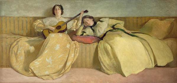 Panel Poster featuring the painting Panel For Music Room by John White Alexander