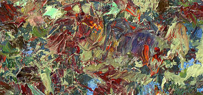 Abstract Poster featuring the painting Paint Number 21 by James W Johnson