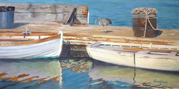 Dana Point Poster featuring the painting Dana Point Harbor Boats by Sharon Weaver