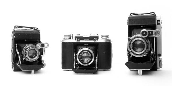 Cameras Poster featuring the photograph Historic Rangefinder Cameras by Paul Cowan