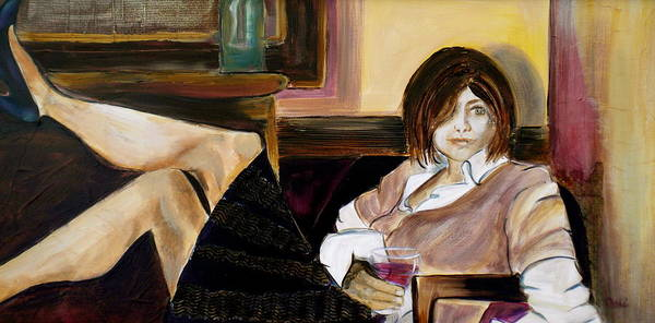 Woman Poster featuring the painting After A Long Day by Debi Starr