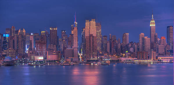 Nyc Skyline Poster featuring the photograph New York City by Kirit Prajapati