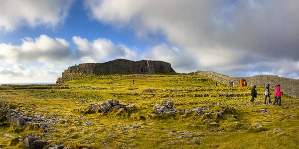 Galway Poster featuring the photograph Dun Aengus - Ancient Irish History by Mark E Tisdale