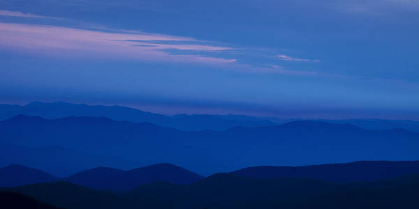 Blue Poster featuring the photograph Blue Ridge Panorama by Andrew Soundarajan