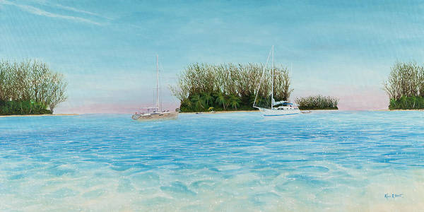Sailboats Poster featuring the painting Anchorage At Crystal Bay by Kevin Brant