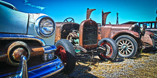 Old Cars Poster featuring the photograph Antique Auto Sales by Steve McKinzie