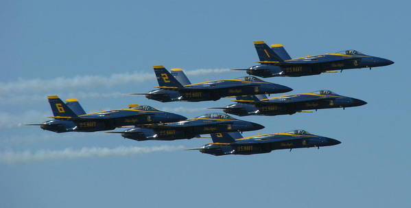 Blue Angels Poster featuring the photograph Blue Angels Take 6 by Samuel Sheats