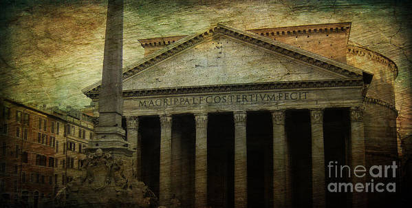 The Pantheon Poster featuring the photograph The Pantheon's Curse by Lee Dos Santos