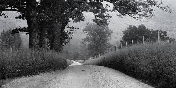 Cades Cove Poster featuring the photograph Winding Rural Road by Andrew Soundarajan