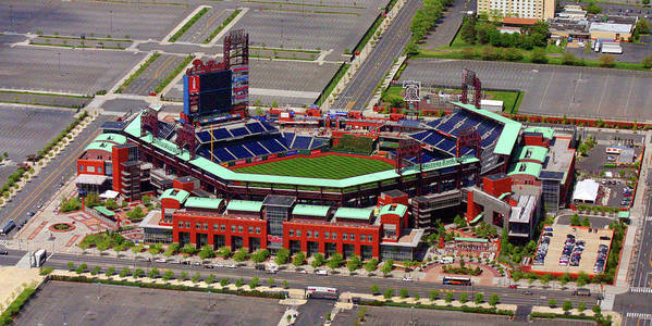 Phillies Poster featuring the photograph Phillies Citizens Bank Park by Duncan Pearson