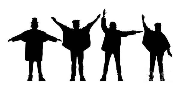 Artwork Poster featuring the digital art The Beatles No.07 by Caio Caldas